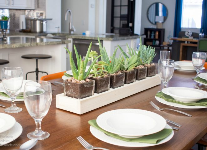 How To Make Simple Long Succulent Planter 700