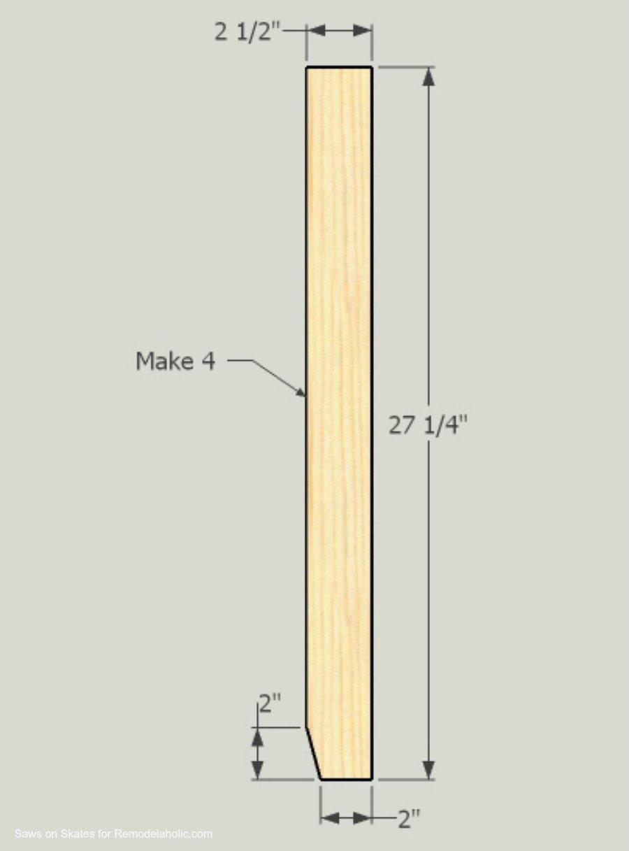 Ikea Hack Vanity Saws On Skates Leg 1