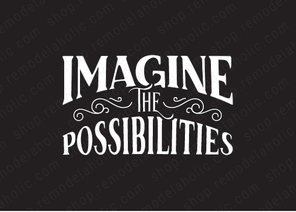 Imagine The Possibilities Modern Black And White Printable Wall Art, AD Aesthetic For Remodelaholic