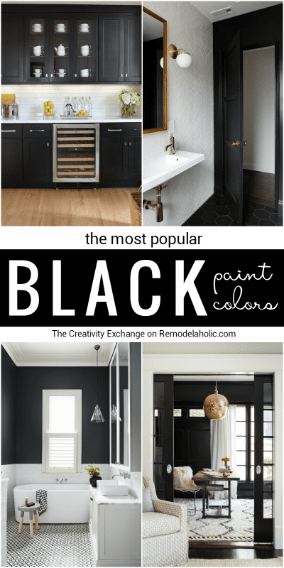 Most Popular Black Paint Colors For Walls, Doors, And Cabinets @Remodelaholic