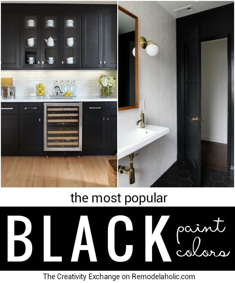 remodelaholic | most popular black paint colors