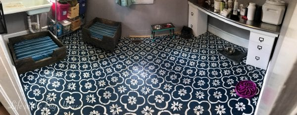 Painted Stenciled Plywood Flooring, Brooke Life In The Big House Dirty Floor Pano
