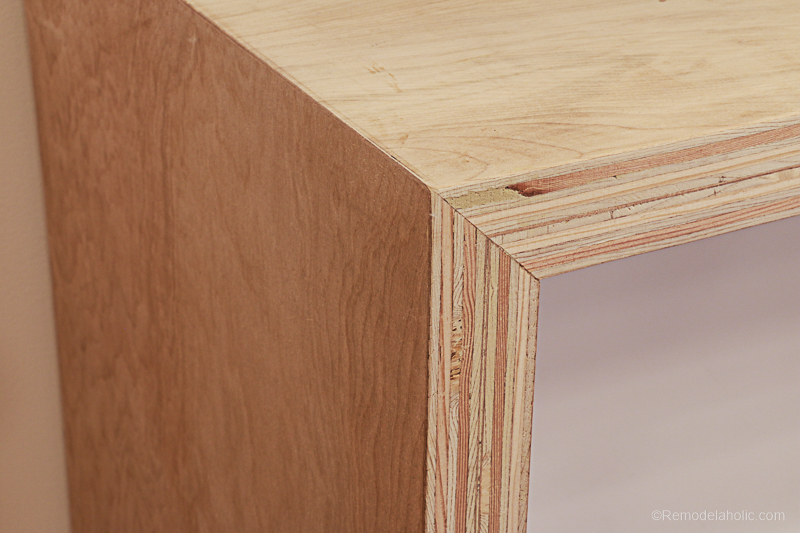 Plybood Waterfall Console Table By Remodelaholic 15