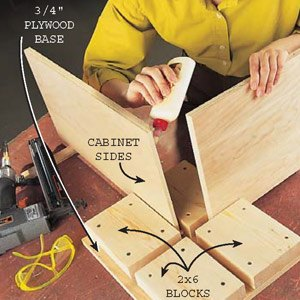 Plywood Cabinet Assembly Station, Family Handyman