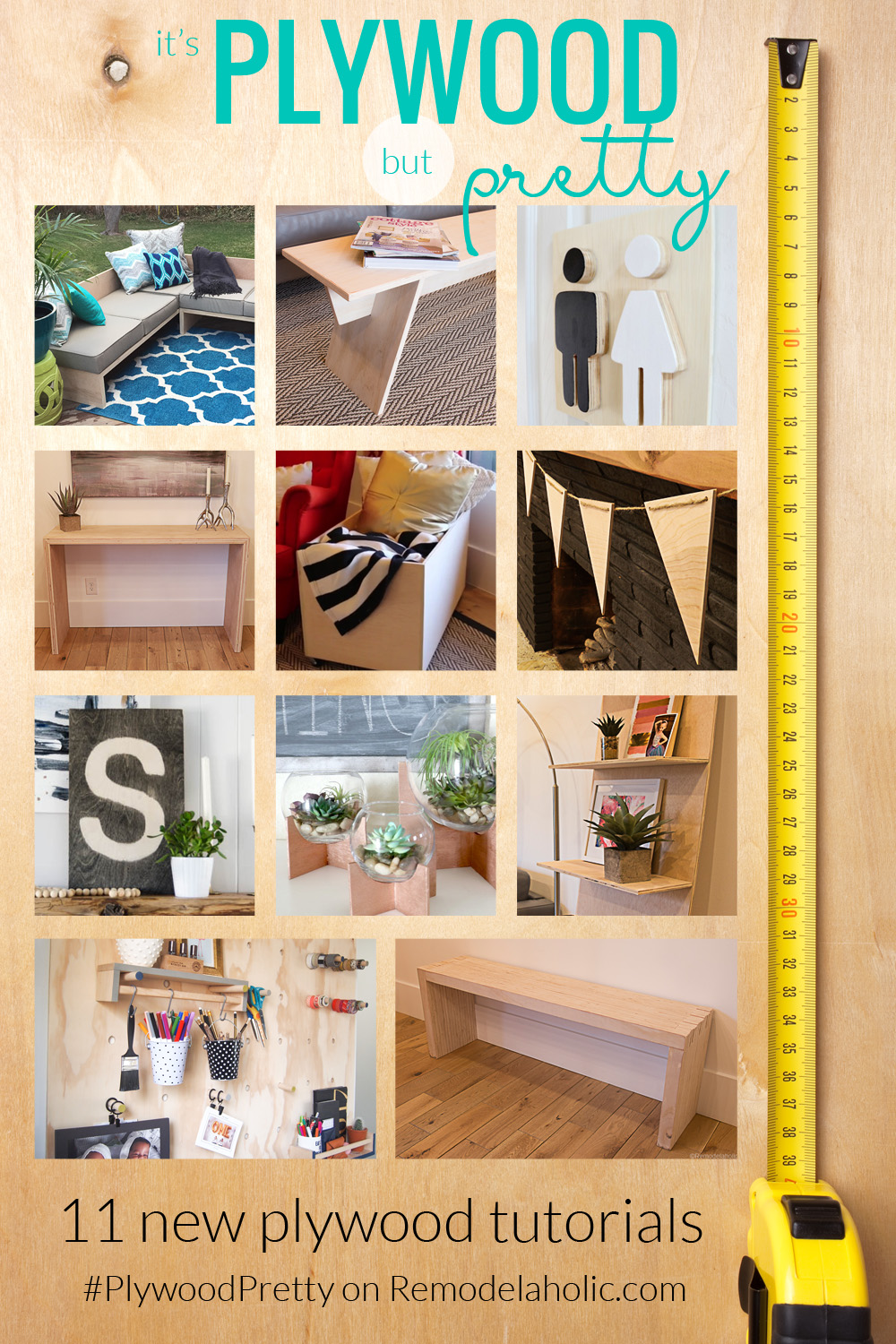 Remodelaholic it 39 s plywood but pretty 12 new diy for Pretty project
