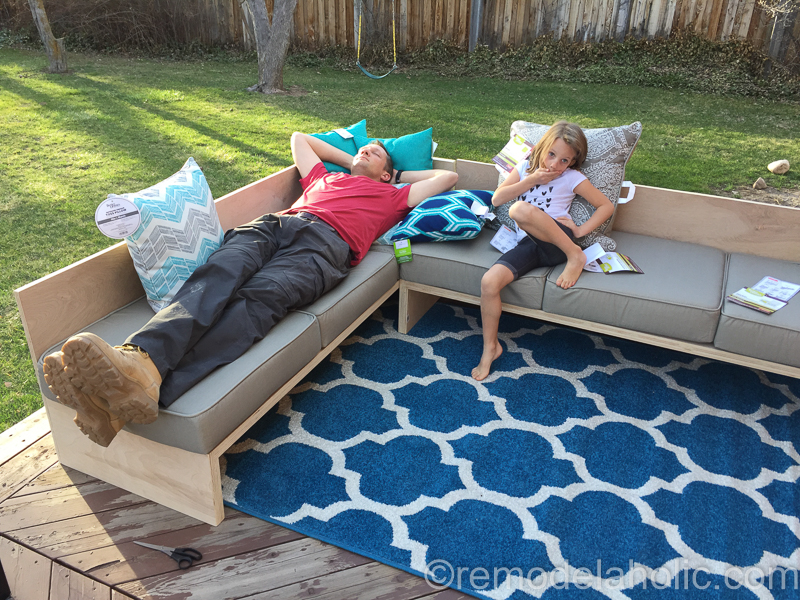 Plywood Sofa Sectional 48