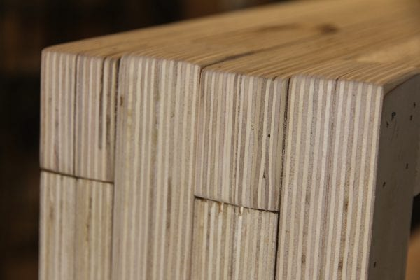 Sand Rounded Plywood Edges @remodelaholic