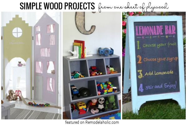 Simple Wood Projects From One Sheet Of Plywood Featured On Remodelaholic