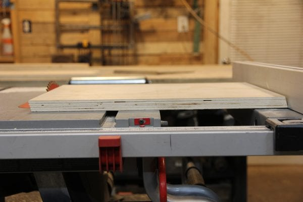 Table Saw Cut Plywood @Remodelaholic