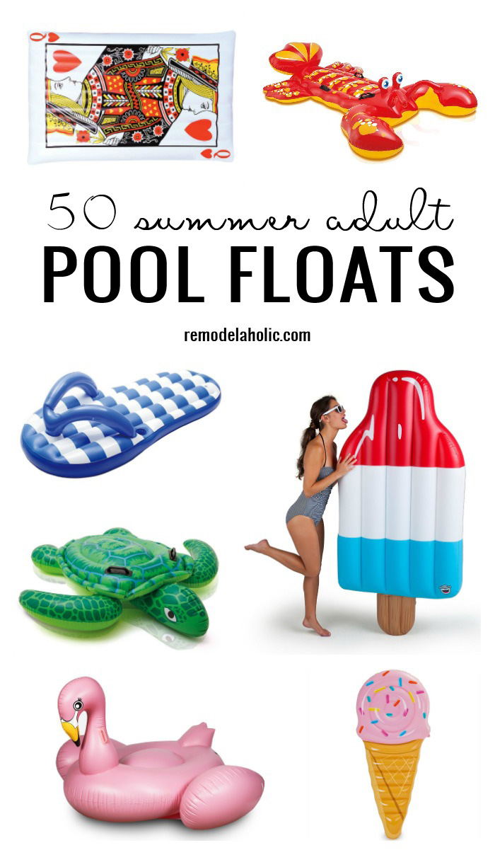 50 Summer Adult Pool Floats Remodelaholic