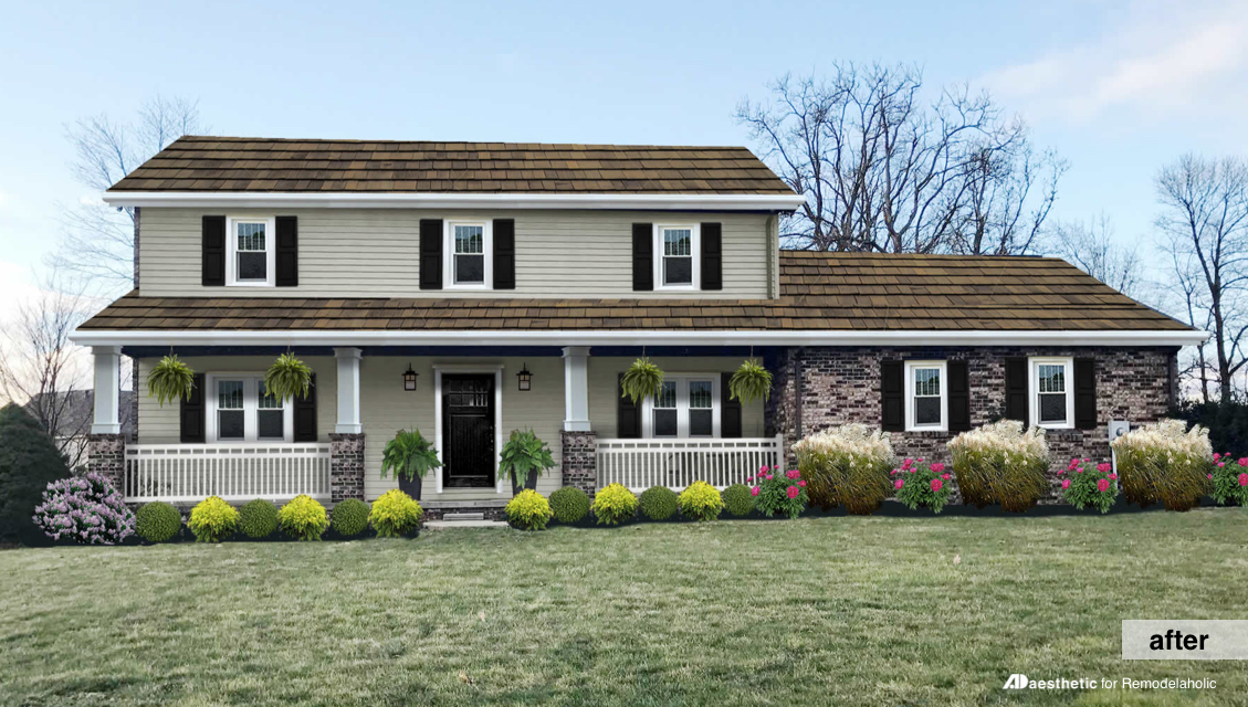 After | Adding curb appeal to a two story home
