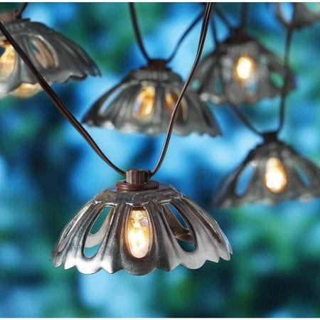 Galvanized Metal String Party Lights : Remodelaholic Fun Bagel Buffet for an Easy Brunch Party