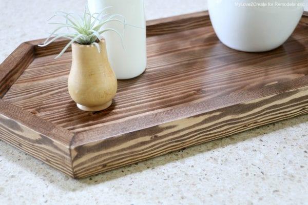 2-board DIY wood serving tray