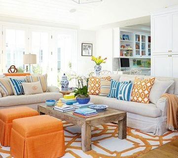 Colorful Living Room Via Better Homes & Gardens