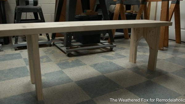 how to make an Outdoor Bench, The Weathered Fox on Remodelaholic