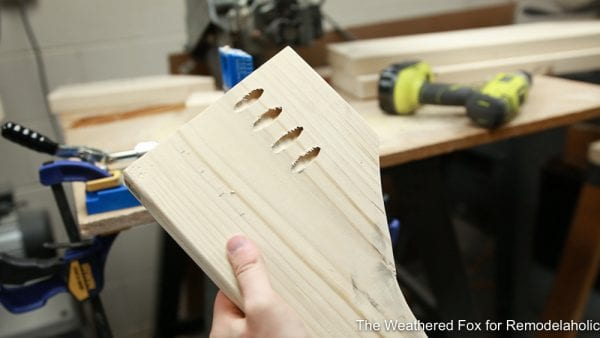 pocket holes to join legs, How to make a wooden bench