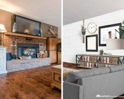 A Modern Country Living Room Makeover   Virtual room redesign with tips and tricks from AD Aesthetic on Remodelaholic.com