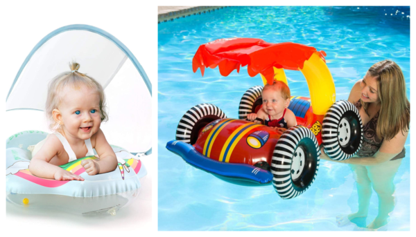 Fun Pool Floats For baby and toddlers For Summer Featured On Remodelaholic.com Baby floats. Baby pool floats. Toddler pool floats. toddler floats.