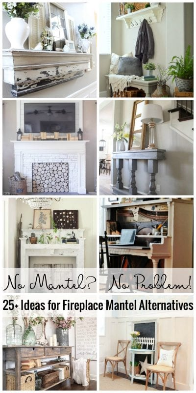 No Mantel No Problem! 25+ Ideas For Fireplace Mantel Alternatives Featured On Remodelaholic.com
