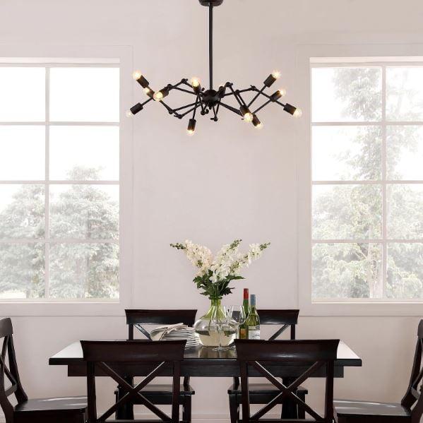 Remodelaholic sputnik light fixtures for Traditional dining room light fixtures