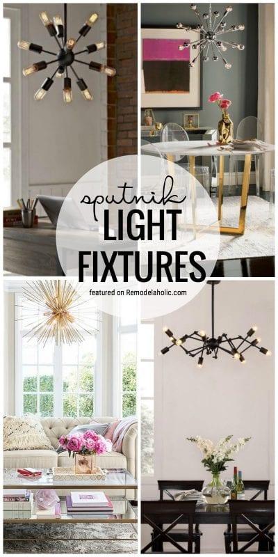 Sputnik Light Fixtures For Your Home Featured On Remodelaholic.com