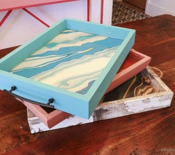 Easy DIY Patterned Trays with Free Agate Printables for Mother's Day