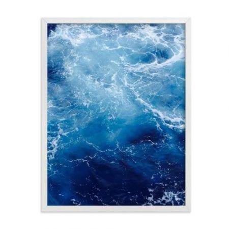 Coastal Dining Room Blue Waves Art