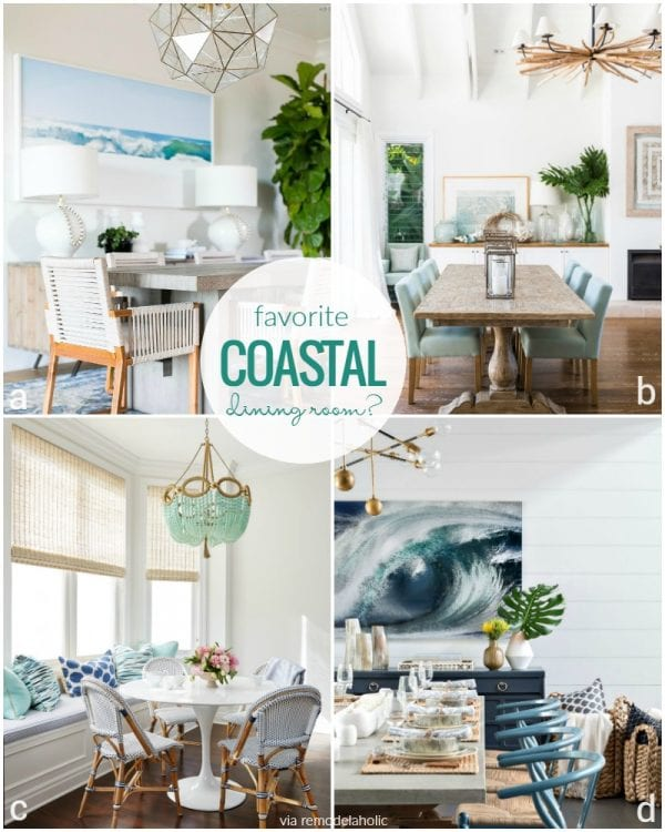 Coastal Dining Room Inspiration @Remodelaholic