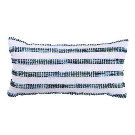 Coastal Dining Room Striped Pillow