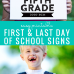 Easy Printable First Day Of School Signs With Matching Last Day Signs #remodelaholic