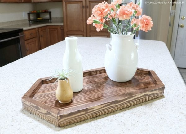 DIY Wood Hexagon Tray For Kitchen Counter