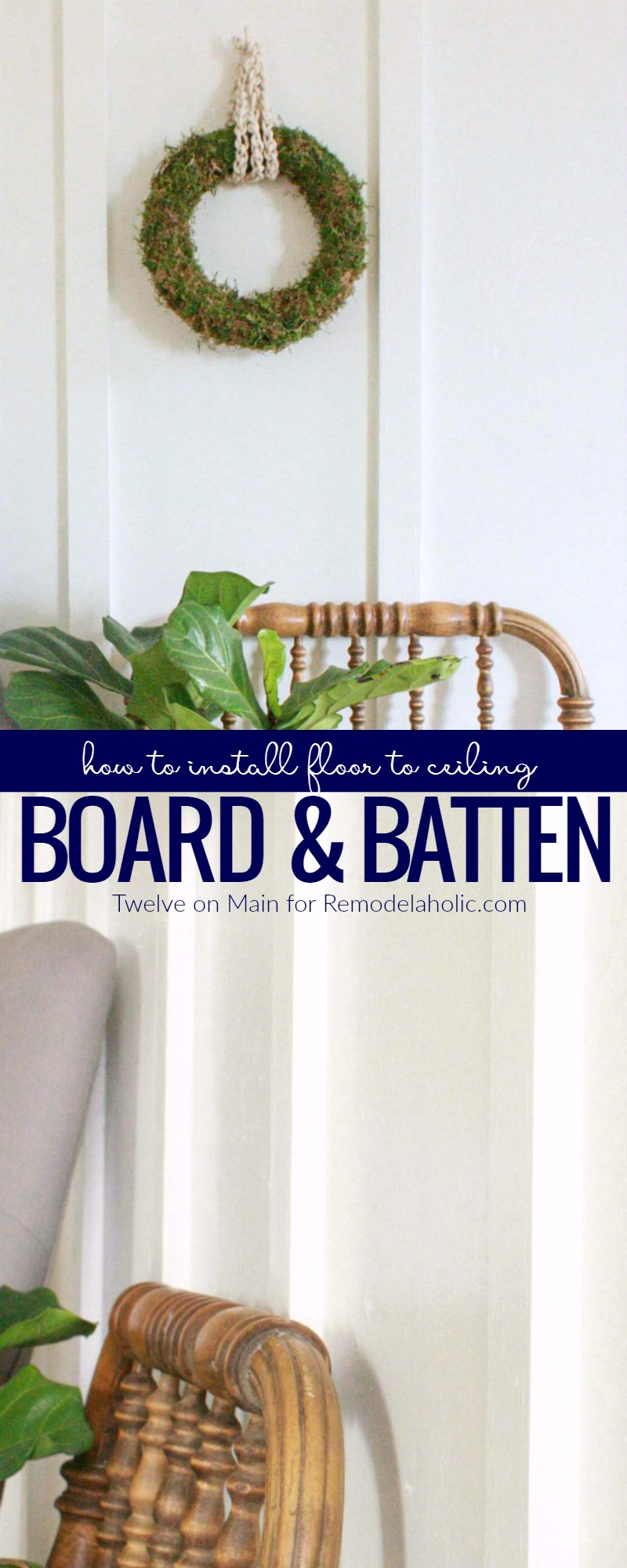 Lighting Basement Washroom Stairs: How To DIY Floor To Ceiling Board And Batten
