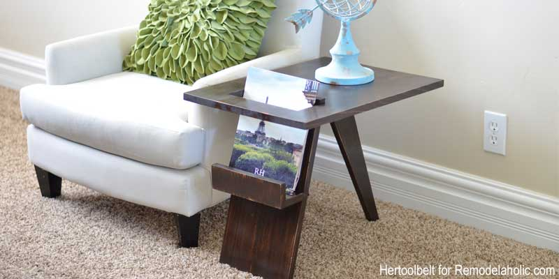 Remodelaholic Build A Diy Mid Century Modern Side Table