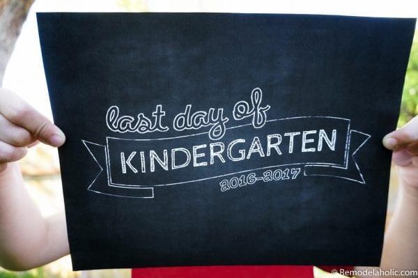 Printable Last Day Of School Signs, Set Of 3 Designs @remodelaholic (1)