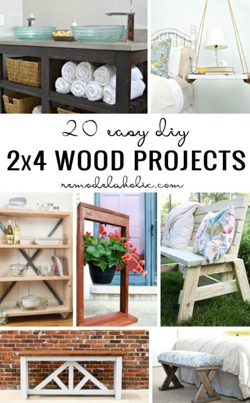 20 Easy DIY 2x4 Wood Projects Remodelaholic