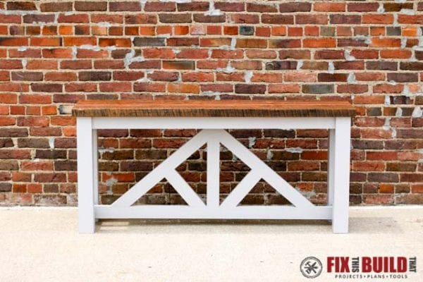 2x4 Wood Projects, DIY console table sofa table by Fix This Build That