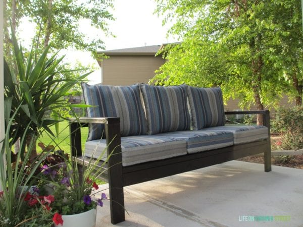 2x4 Wood Projects, outdoor sofa by Life On Virginia Street