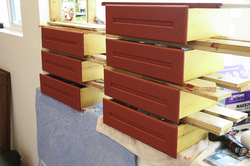 Beyond Paint In Poppy Painted Hutch @Remodelaholic 50