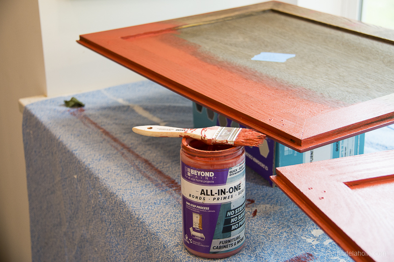 Beyond Paint In Poppy Painted Hutch @Remodelaholic 54