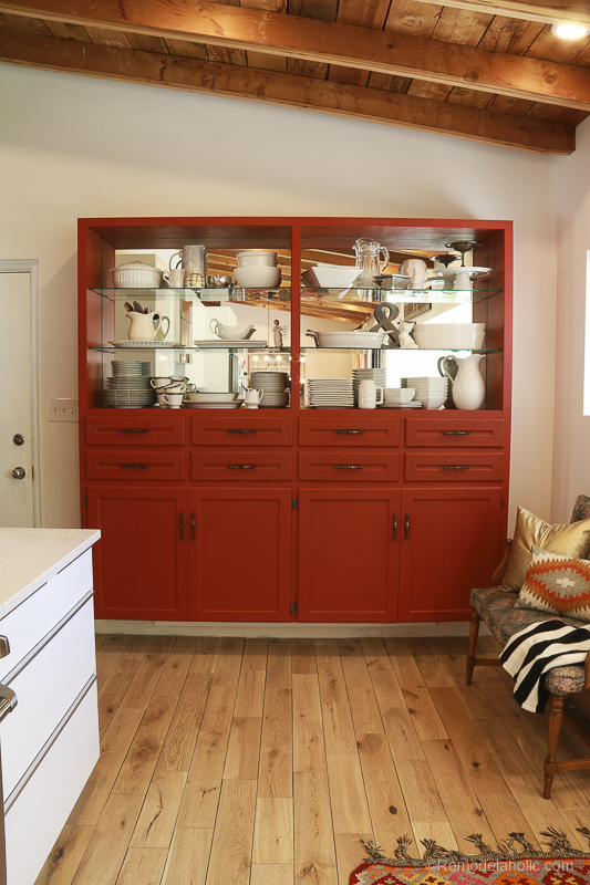 Beyond Paint In Poppy Painted Hutch @Remodelaholic 56
