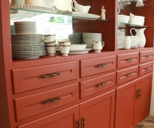 Beyond Paint In Poppy Painted Hutch @Remodelaholic 58