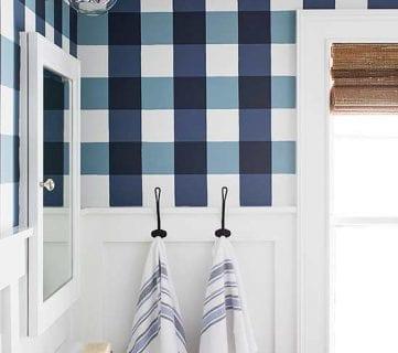 Get This Look: Buffalo Check Farmhouse Bathroom