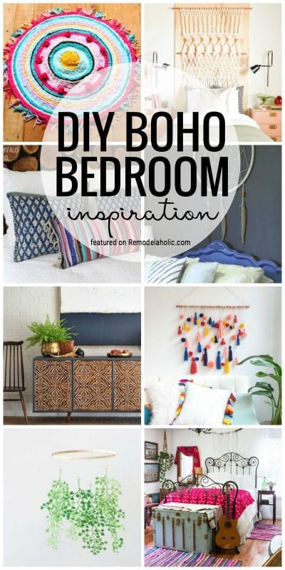 Create A Dreamy Bedroom Full Of Texture And Character With All Of This DIY Boho Bedroom Inspiration Featured On Remodelaholic.com