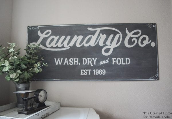 Laundry Room DIY Wall Decor Sign