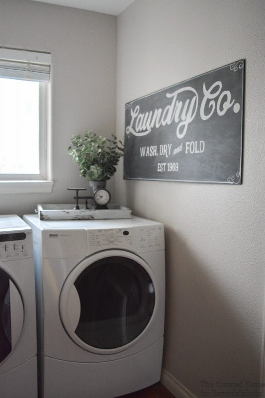 Remodelaholic Fixer Upper Inspired Farmhouse Laundry Sign Free Template