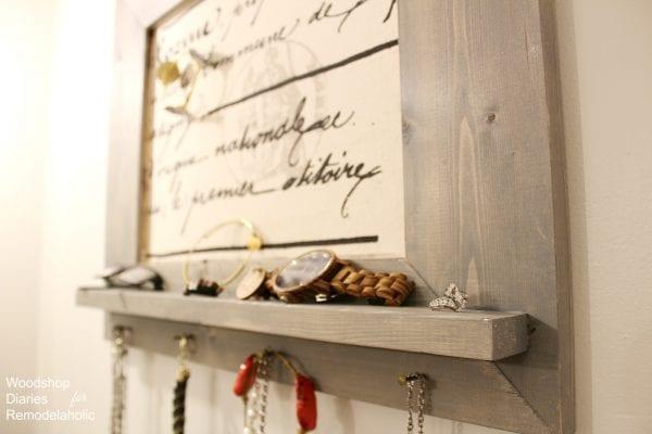 Foyer Diy Jewelry : Remodelaholic how to make a diy jewelry organizer