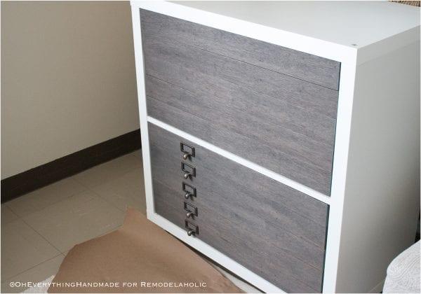 Kallax Flat File Cabinet Makeover 1adding Drawer Pulls