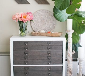 IKEA Hack Kallax into Flat File Cabinet + Drawers