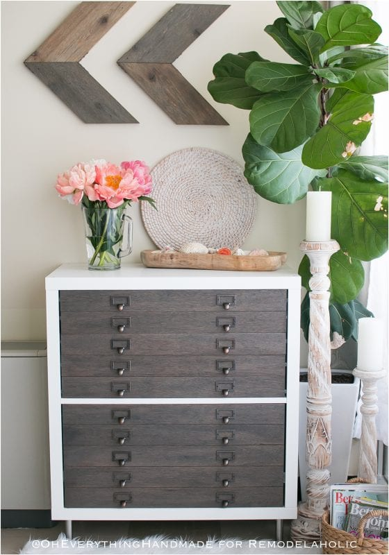 Ikea Hack Kallax Into Flat File Cabinet Drawers