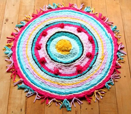 Make T Shirt Rag Rug Apieceofrainbowblog 210